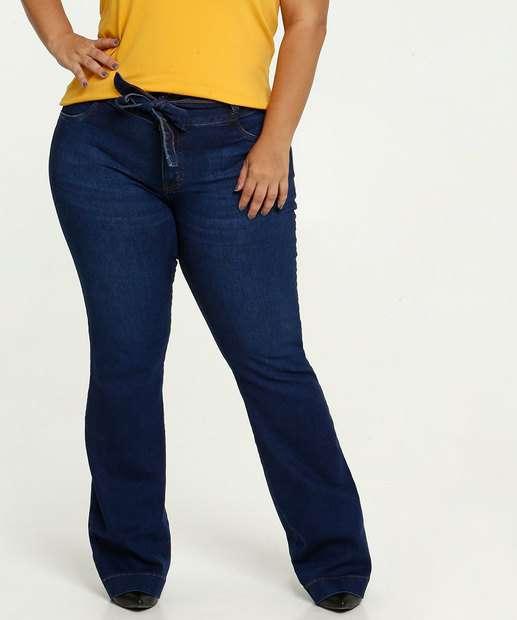 Image_Calça Jeans Feminina Stretch Flare Plus Size