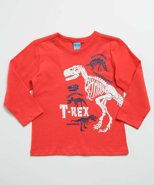 Image_Camiseta Infantil Manga Longa Estampa Dinossauro Tam 1 a 3