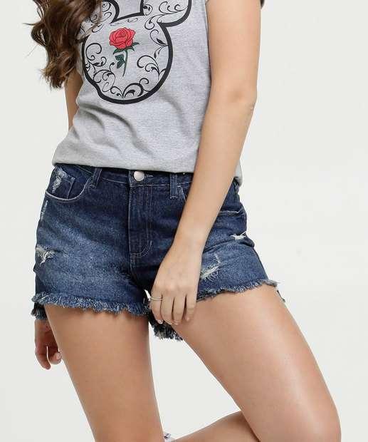 Image_Short Feminino Jeans Destroyed Barra Desfiada Marisa