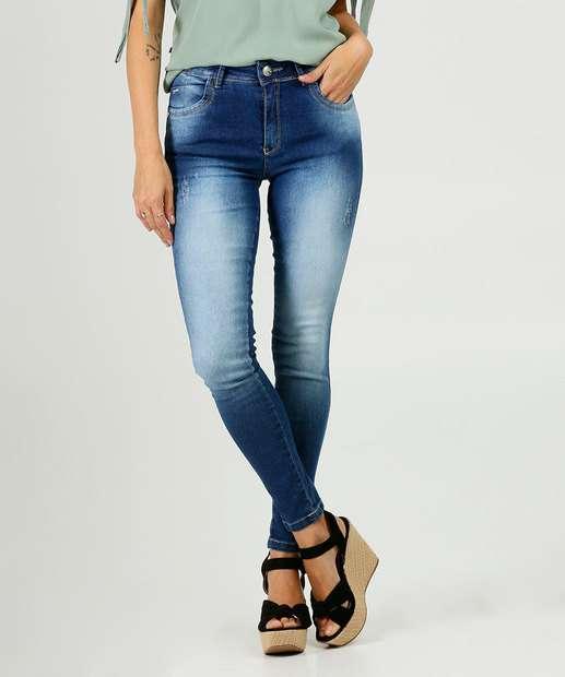 Image_Calça Cigarrete Feminina Puídos Zune Jeans