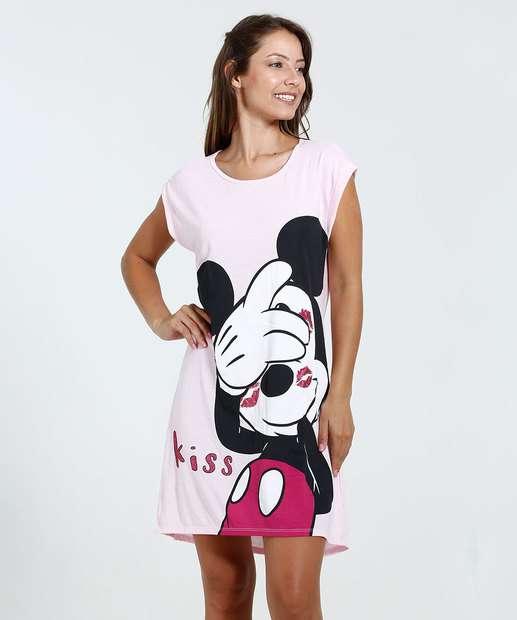 Image_Camisola Feminina Estampa Mickey Glitter Disney