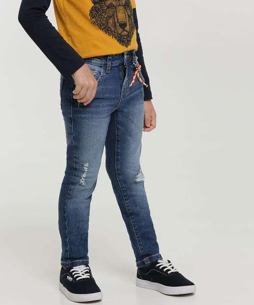 Image_Calça Infantil Jeans Destroyed Bolsos MR Tam 4 a 10