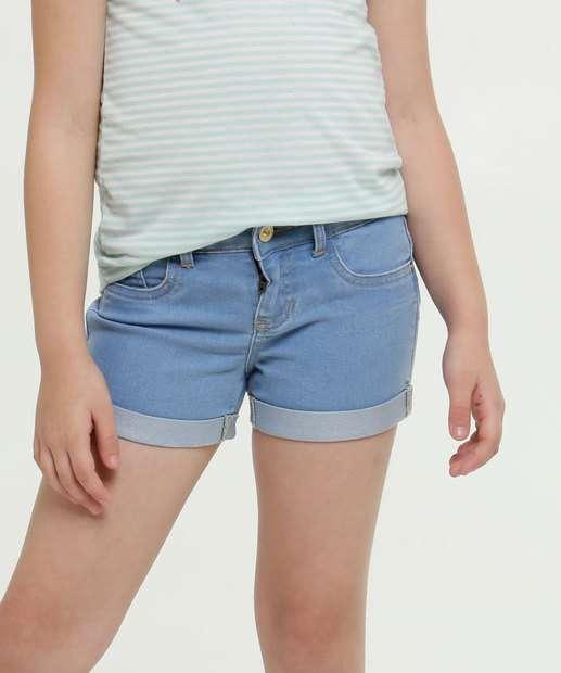 Image_Short Infantil Jeans Barra Dobrada Marisa