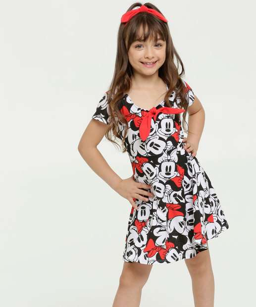 Image_Vestido Infantil Estampa Minnie Brinde Disney