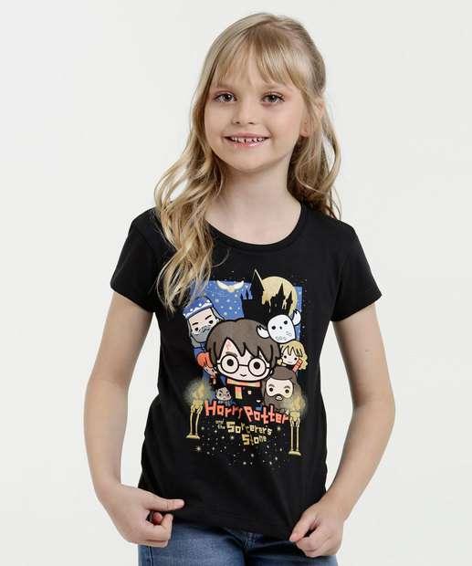 Image_ Blusa Infantil Harry Potter Manga Curta Warner Bros