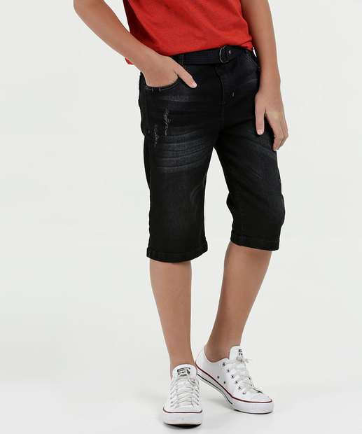 Image_Bermuda Juvenil Jeans Puídos MR