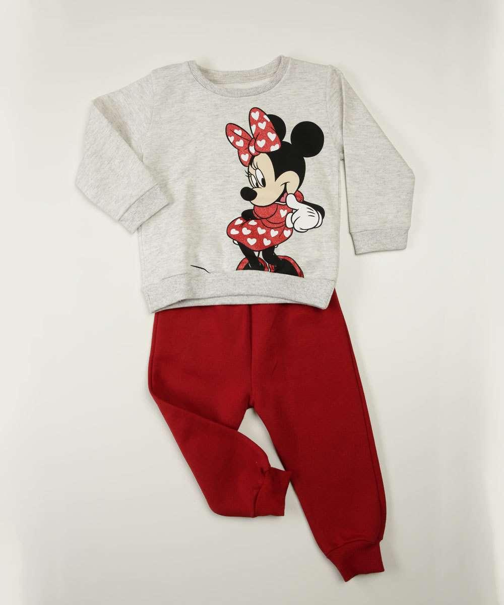 Conjunto Infantil Moletom Minnie Disney Tam 0 a 18 Meses