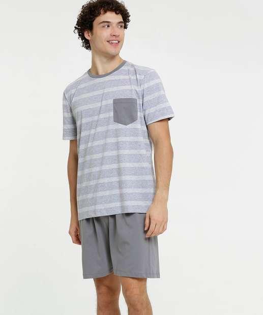Image_Pijama Masculino Listrado Bolso Manga Curta MR