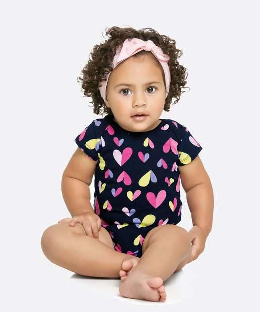 Image_Body Infantil Bebê Estampa Coração Manga Curta