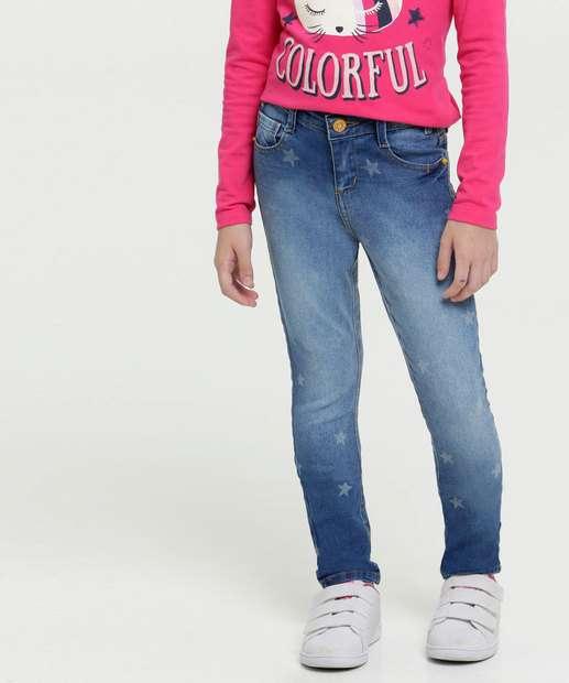 Image_Calça Infantil Jeans Estampa Estrelas Marisa