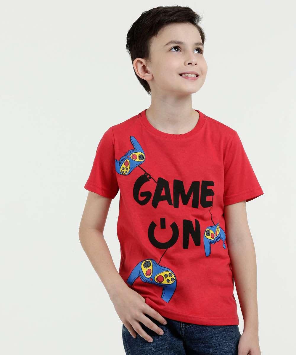 Camiseta Infantil Estampada Manga Curta Marisa