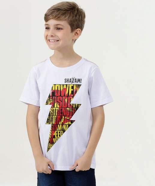 Image_Camiseta Infantil Estampa Shazam Manga Curta Warner Bros