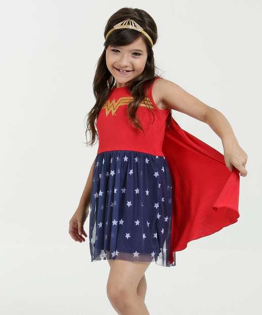Image_Vestido Infantil Mulher Maravilha Brinde Tiara Warner