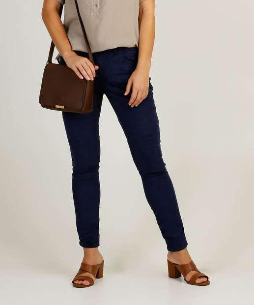 Image_Calça Skinny Feminina Sarja Cotelê Uber Jeans