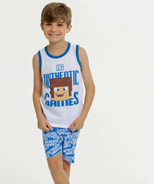 Image_Pijama Infantil Estampa Minecraft Authentic Games