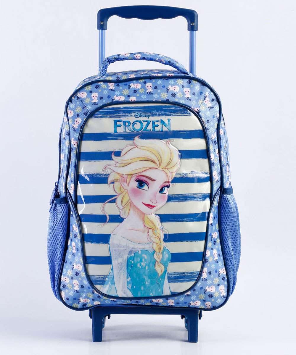 a3a4d9b4c Mochila Escolar Infantil Rodinha Estampa Frozen Disney | Marisa