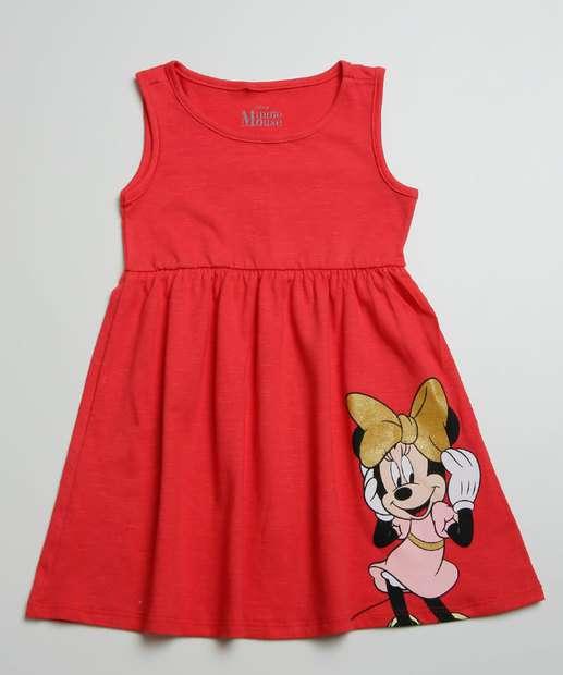 Image_Vestido Infantil Sem Manga Minnie Disney Tam 1 a 4