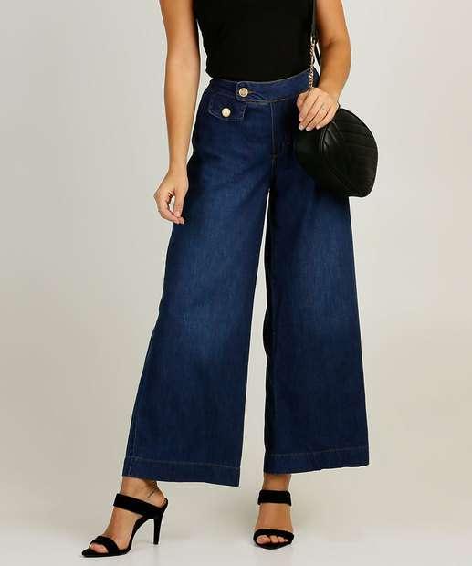 Image_Calça Pantalona Feminina Uber Jeans