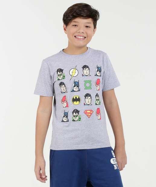 Image_Camiseta Juvenil Super Heróis Manga Curta Liga da Justiça