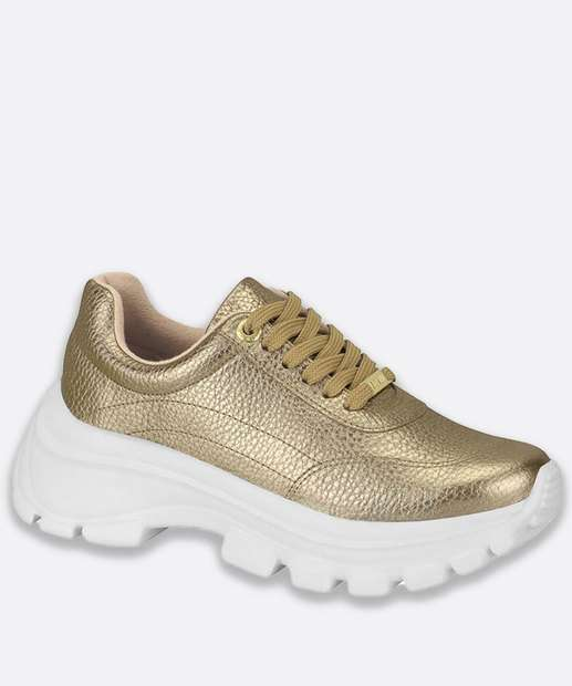 Image_Tênis Feminino Chunky Sneaker Metalizado Vizzano