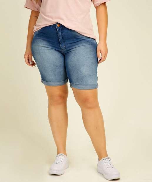 Image_Bermuda Plus Size Feminina Jeans Barra Dobrada Biotipo