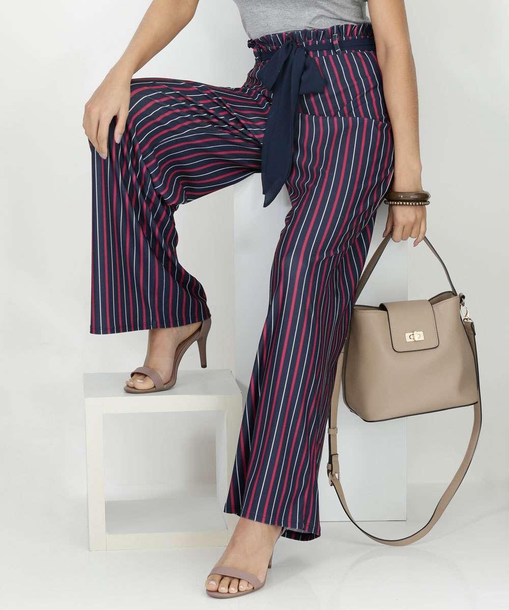 58b4cd6a4 Calça Clochard Pantalona Listrada Marisa