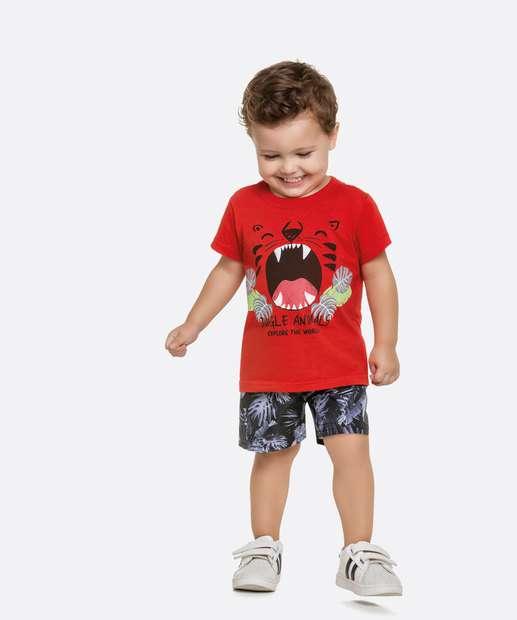 Image_Conjunto Infantil Bebê Estampa Tigre Manga Curta