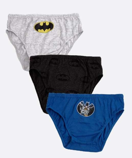 Image_Kit 3 Cuecas Infantil Slip Batman Liga da Justiça