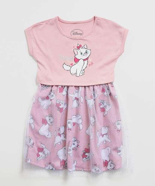 Image_Vestido Infantil Tule Estampa Marie Brilho Disney