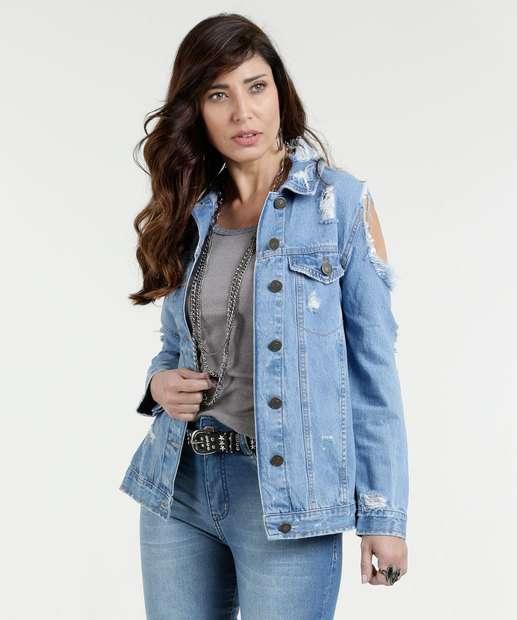 Image_Jaqueta Feminina Jeans Open Shoulder Marisa