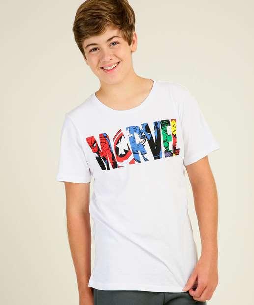 Image_Camiseta Juvenil Manga Curta Estampada Marvel Tam 10 a 16