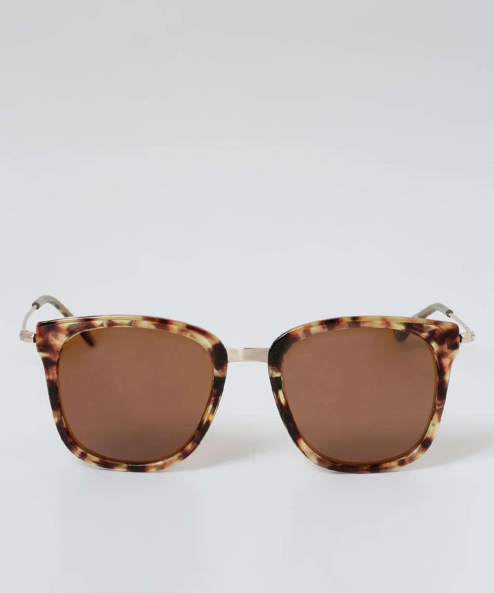 7c678c567dd2b Óculos de Sol Feminino Quadrado Animal Print Marisa