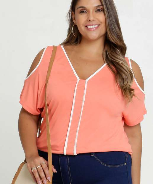 Image_Blusa Feminina Open Shoulder Viés Plus Size