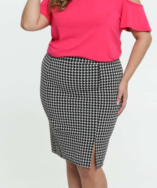 Image_Saia Feminina Estampada Fenda Plus Size
