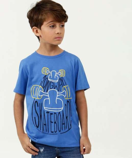Image_Camiseta Infantil Estampa Skate Manga Curta MR