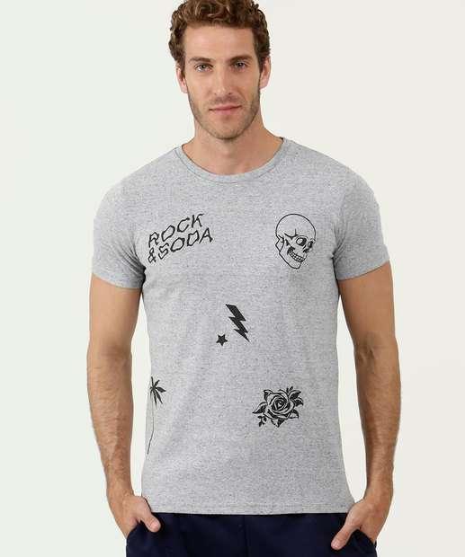 Image_Camiseta Masculina Estampada Manga Curta Rock & Soda