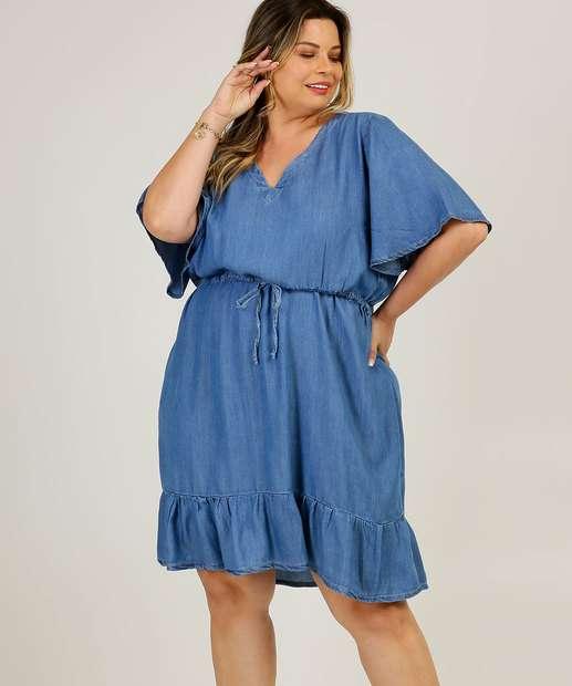 Image_Vestido Plus Size Jeans Feminino