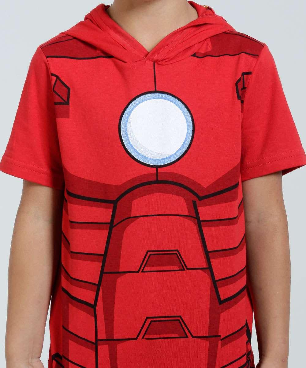 a3b9351b53 Camiseta Infantil Homem de Ferro Capuz Marvel | Marisa