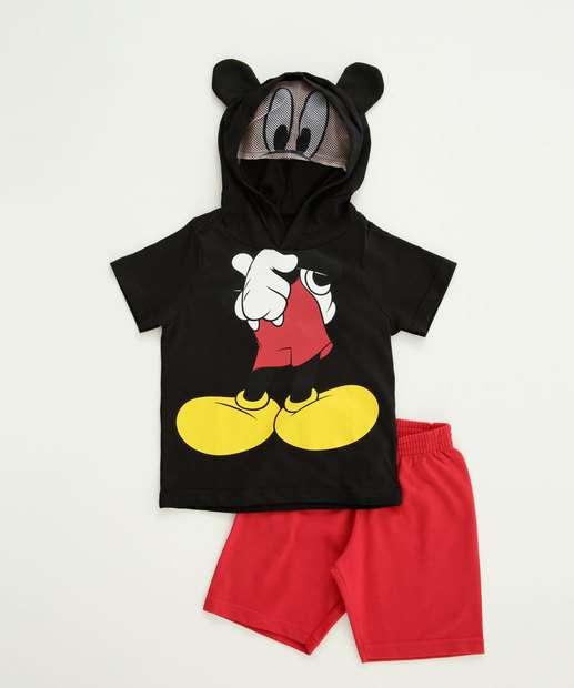 Image_Conjunto Infantil Estampa Mickey Manga Curta Disney