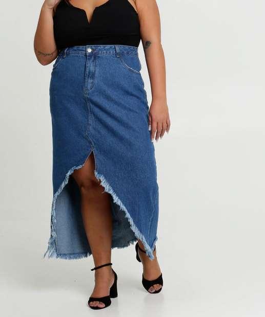 Image_Saia Feminina Jeans Mullet Barra Desfiada Plus Size