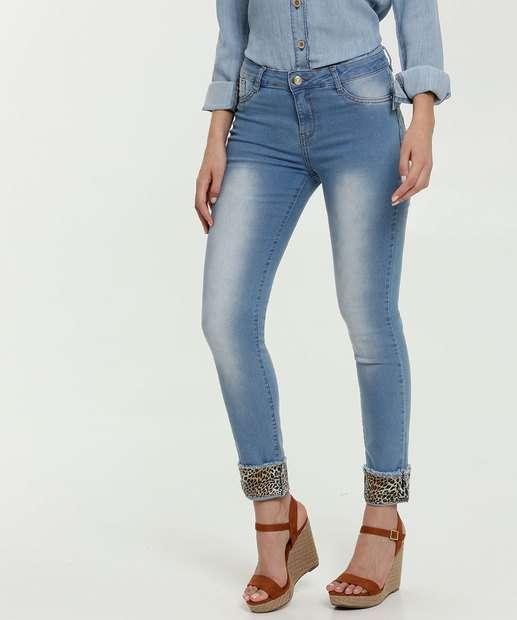Image_Calça Jeans Skinny Feminina Animal Print