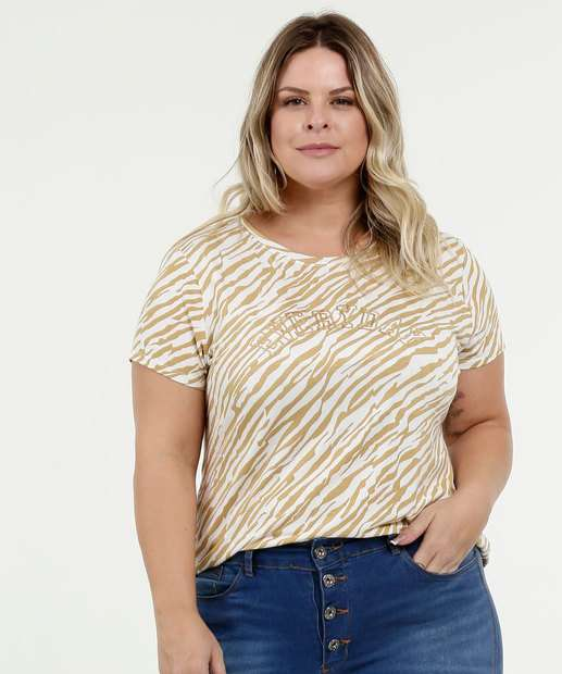 Image_Blusa Feminina Estampa Animal Print Plus Size Manga Curta