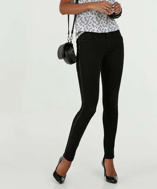 Image_Calça Feminina Jeans Skinny Lurex Marisa