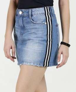 Saia Feminina Jeans Listras Marisa