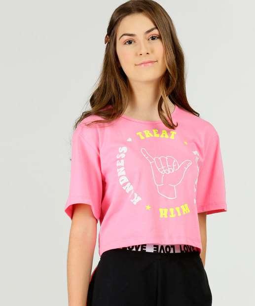 Image_Blusa Juvenil Cropped Estampa Frontal Marisa Tam 10 a 16