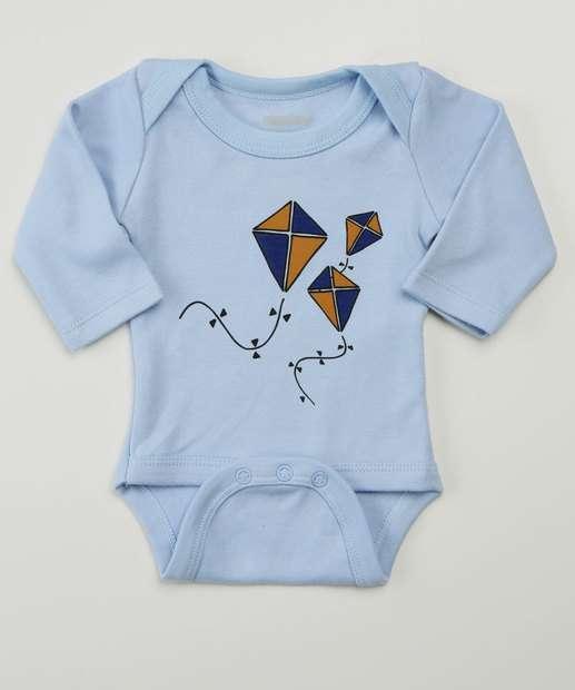 Image_Body Infantil Bebê Estampa Pipa Tam 0 a 6 Meses