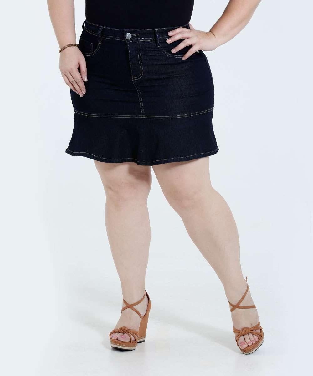 Image_Saia Feminina Plus Size Babado Jeans Marisa