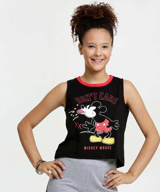Image_Blusa Juvenil Cropped Estampa Mickey Disney