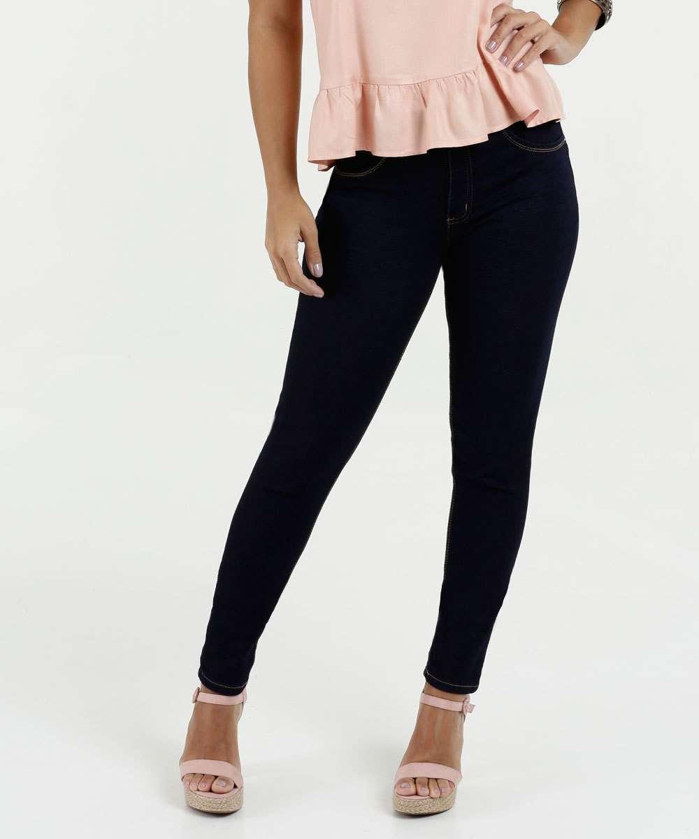 Calça Feminina Jeans Skinny Cintura Média Biotipo