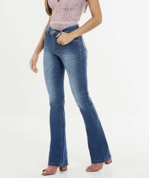 Image_Calça Feminina Jeans Flare Cintura Média Sawary